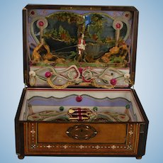 Sewing Box with Automaton Action and Music