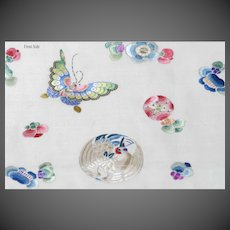 Chinese Silk Fabric with Stunning Embroidery