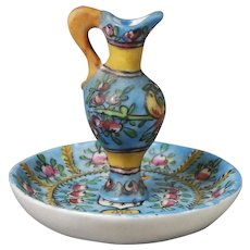 French Porcelain Ewer and Underplate Desvres