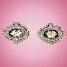 Pair of Victorian Cast Metal Ornaments