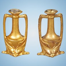 Pair of Ormolu Vases in the Art Nouveau Taste