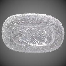 Dollhouse Pressed Glass Serving Platter