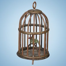 Brass Dollhouse Birdcage
