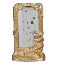 German Cast and Gilded Metal Table Mirror