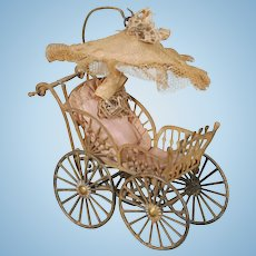 German Dollhouse Baby Carriage