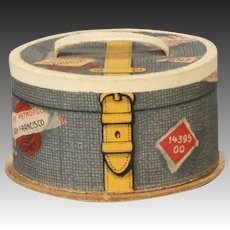 German Lithographed Paper Candy Container Hat Box