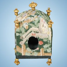 Miniature Pet Bed in Hand-executed Petit-point