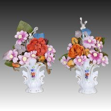 German China Dollhouse Cottage Vases