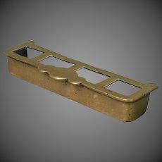 Dollhouse Brass Fireplace Fender