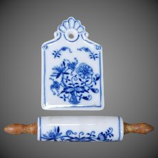 German Cutting Board and Rolling Pin Dollhouse Kitchen