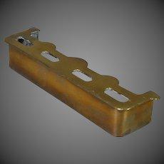 Dollhouse Larger Brass Fireplace Fender