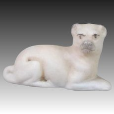 German Bisque Pug Dollhouse Dog