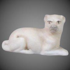 German Bisque Pug Dollhouse Dog