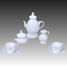 Milk Glass Tea Service for Dollhouse
