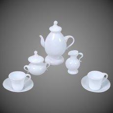 Milk Glass Tea Service for Dollhouse