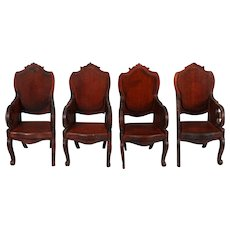 "Tynietoy ""Victorian"" Set of Four Matching Armchairs"