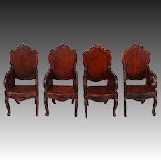 """Tynietoy """"Victorian"""" Set of Four Matching Armchairs"""
