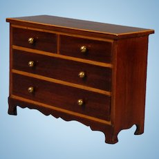 Miniature Chest of Drawers in Mahogany