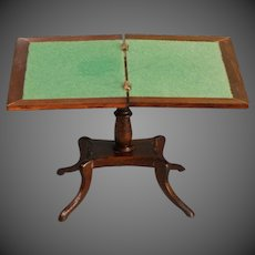 Miniature Games Table in mahogany