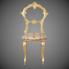 Silk Brocade Cast Sidechair