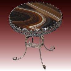 Agate Top Metal Table