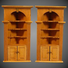 Pair of Corner Bookcases from Tynietoy