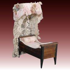 Biedermeier Dollhouse Bed