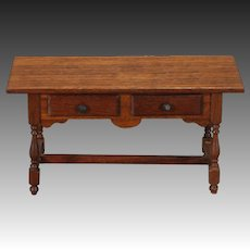 Artist-created Miniature Console Table in Mahogany