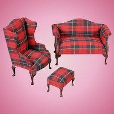 Sofa, Wing chair and Matching Ottoman Bespaq