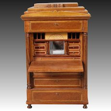 Artist-created Miniature Biedermeier Drop-front Secretaire