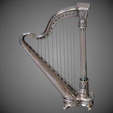 Miniature .800 Silver Harp