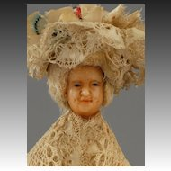 18th century Continental Wax Doll