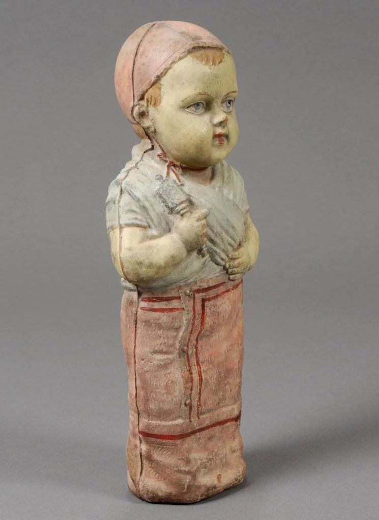 Early French Red Rubber Molded Doll Carmel Doll Shop