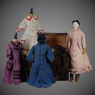 German China Doll with Wardrobe of Clothing