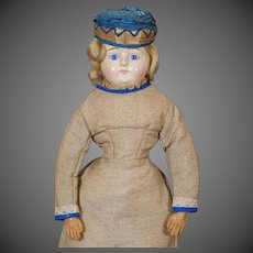 German  Papier-mache Holz Masse Doll