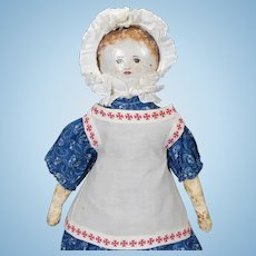 Early One of a Kind Cloth Doll