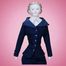 German Parian Gentleman Shoulderhead Doll