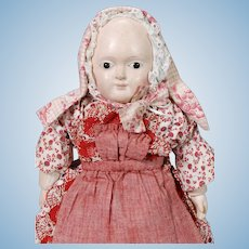 German Papier Mache Taufling Doll