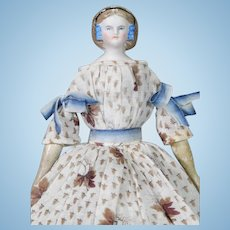 Dollhouse Parian Portrait Shoulderhead of Empress Eugenie