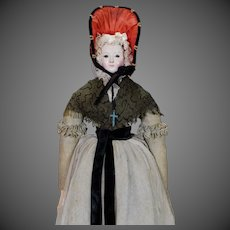 German Papier-mache Doll circa 1845 from Andreas Voit