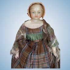 English Poured Wax Doll