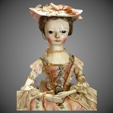 Georgian Wooden Doll circa 1760