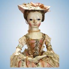 Georgian Wooden Doll circa 1760
