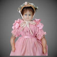 English Poured Wax Child Doll