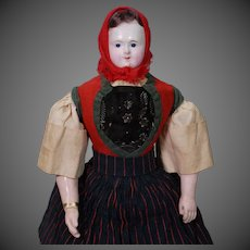 French Papier-mache Doll