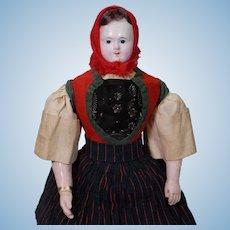 French Papier-mache Doll