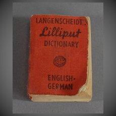 Miniature Dictionary