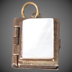 Tiny Book-form Victorian Sterling Locket