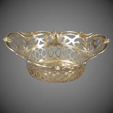 English Silver Plated Pierced Center Bowl/Basket