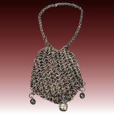 Metal Chain Link Draw-string Purse for Fashion Doll